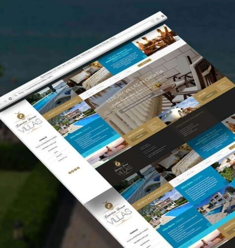 Croatian Dream Villas Website