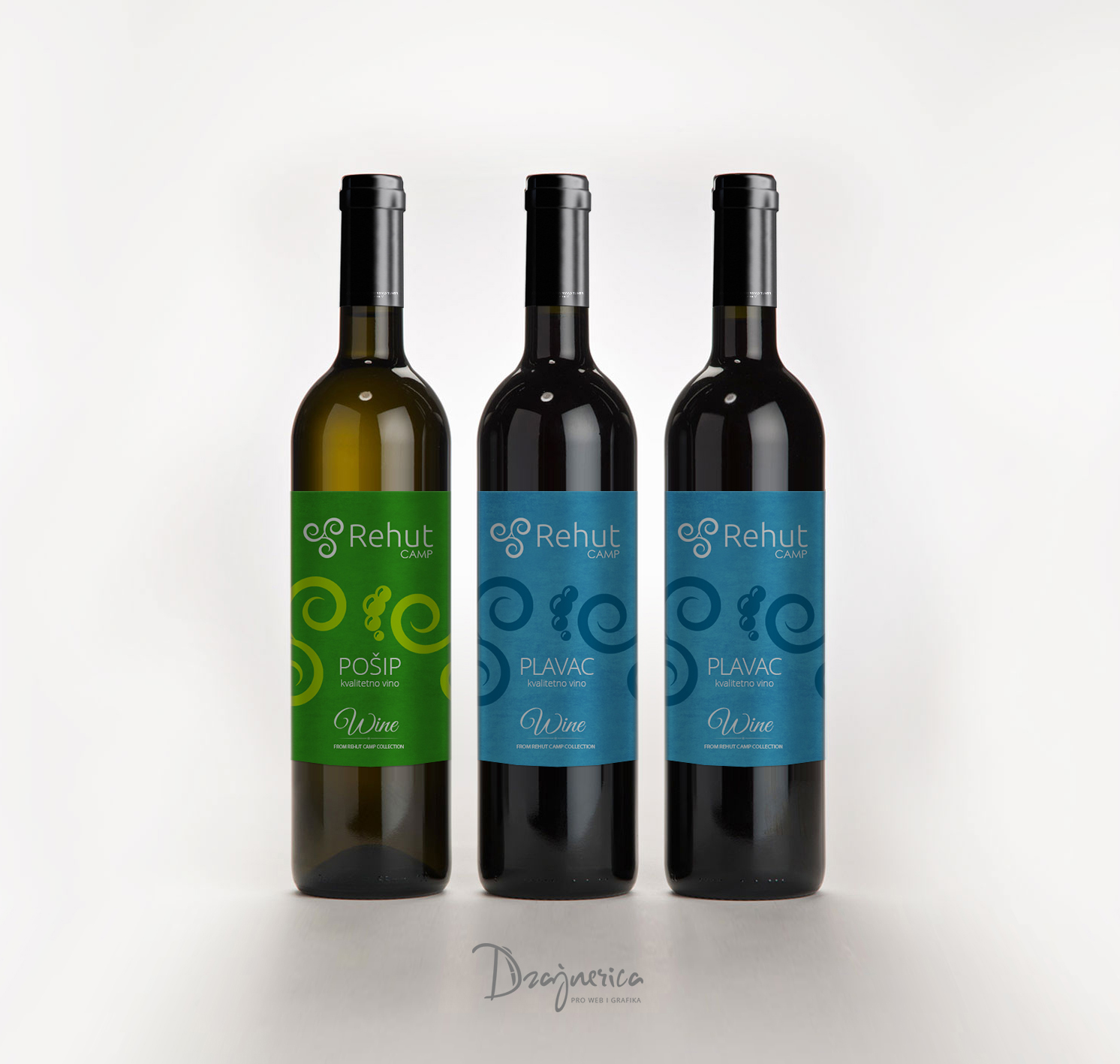 Camp Rehut wine labels