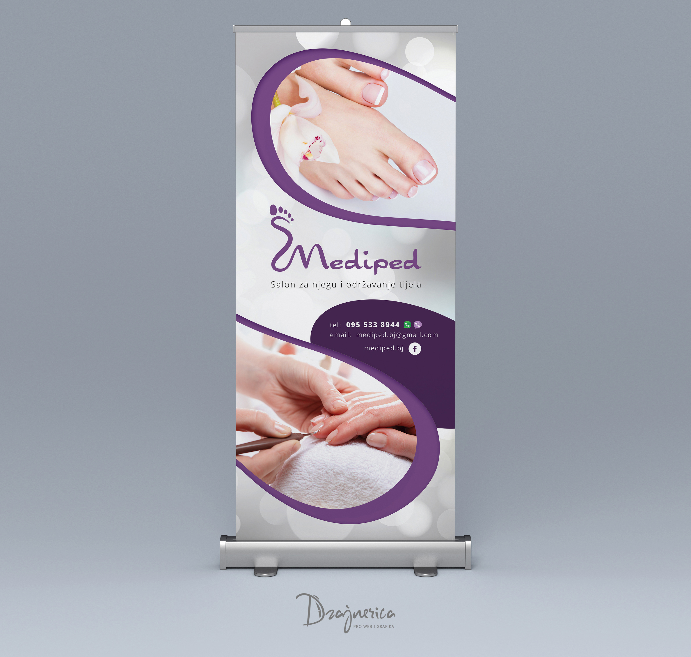 Mediped Roll Up Banner