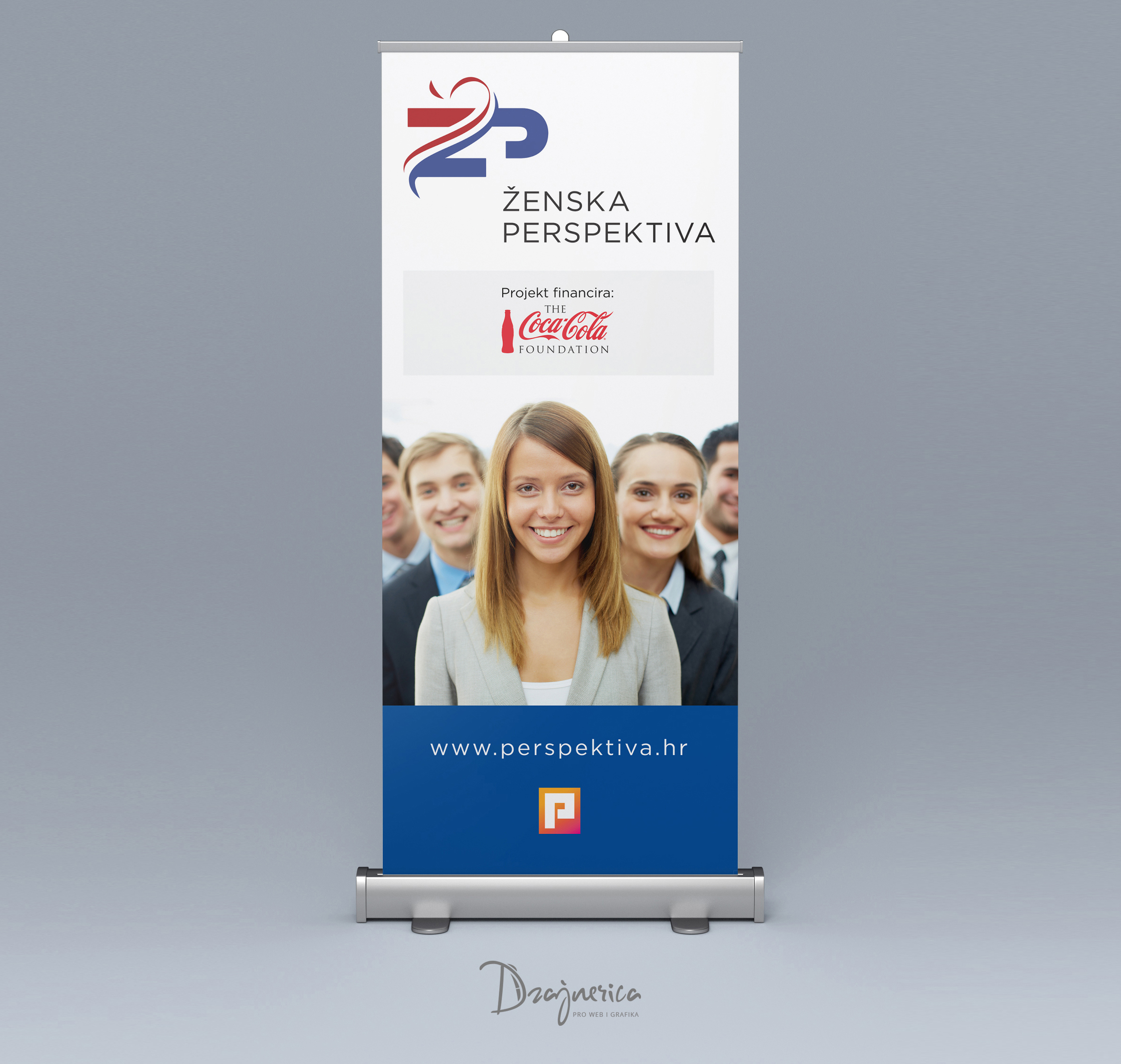 Ženska perspektiva Roll Up Banner