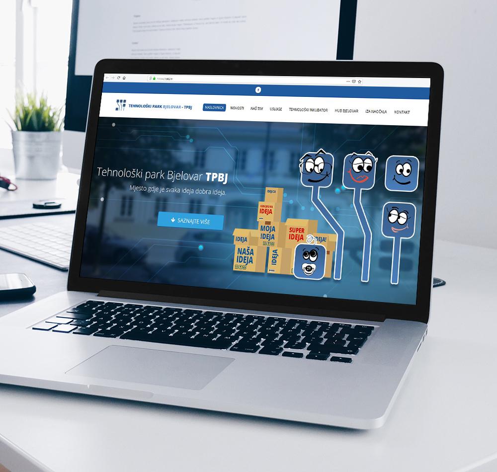 Tehnološki park Bjelovar Web Dizajn